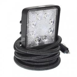 LAMPA ROBOCZA LEDOWA PROSTOKĄTNA,  8 LED NA MAGNESIE FI 76mm, L3200mm, KPL